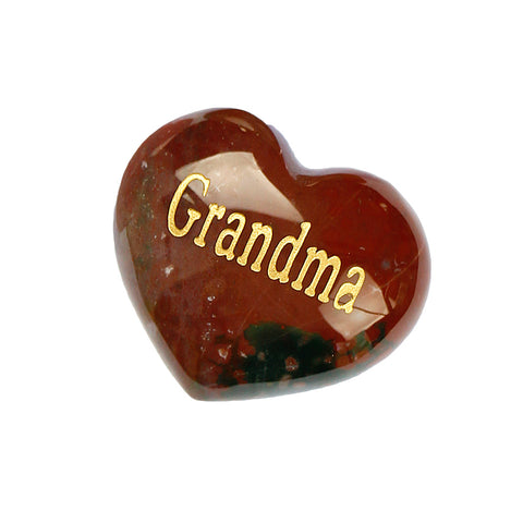 GRANDMA Mookaite Puffy Heart Gemstone