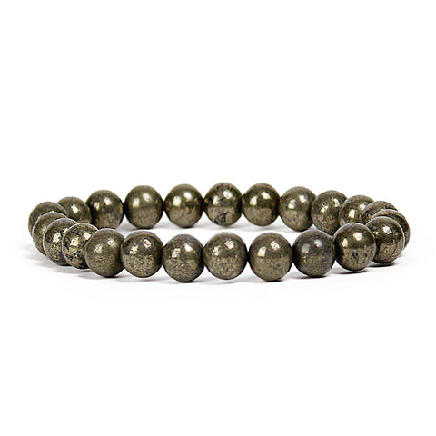 Energy Pyrite 8mm Power Bracelet