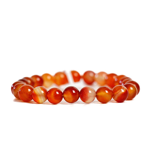 Energizing Red Agate 8mm Power Bracelet