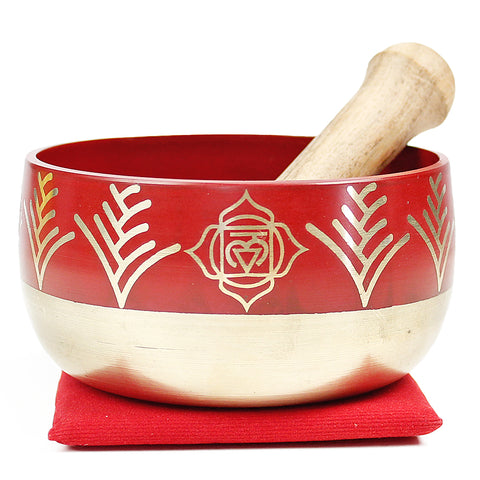 Root Chakra (Red) Singing Bowl Gift Set Medium