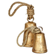 Golden Holiday Hanging Door Knob Bell