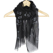 Black Cat Prowling Summer Scarf