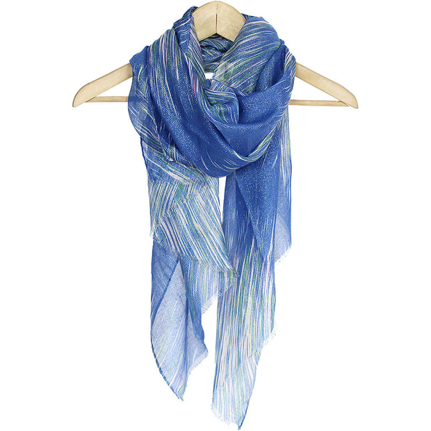 Blue Stripes Summer Scarf