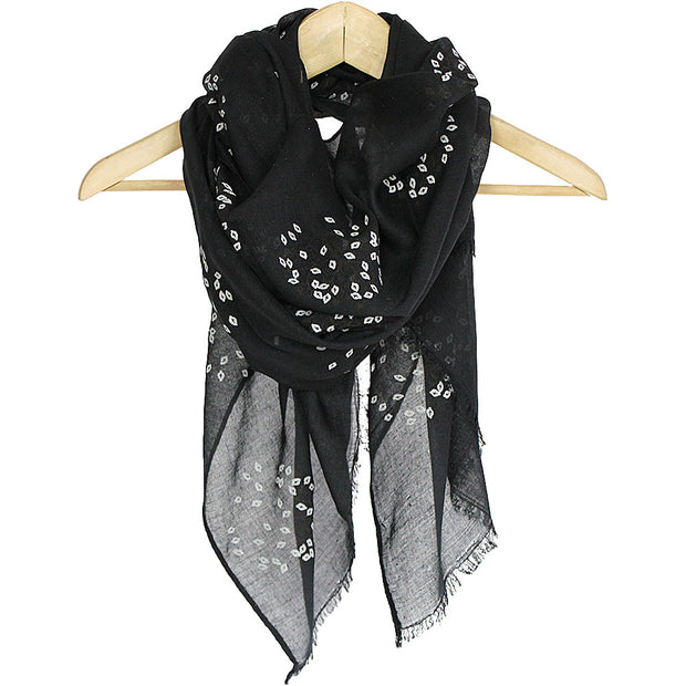 Black Tree Summer Scarf