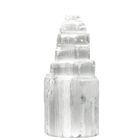 Natural Selenite Mountain Skyscraper