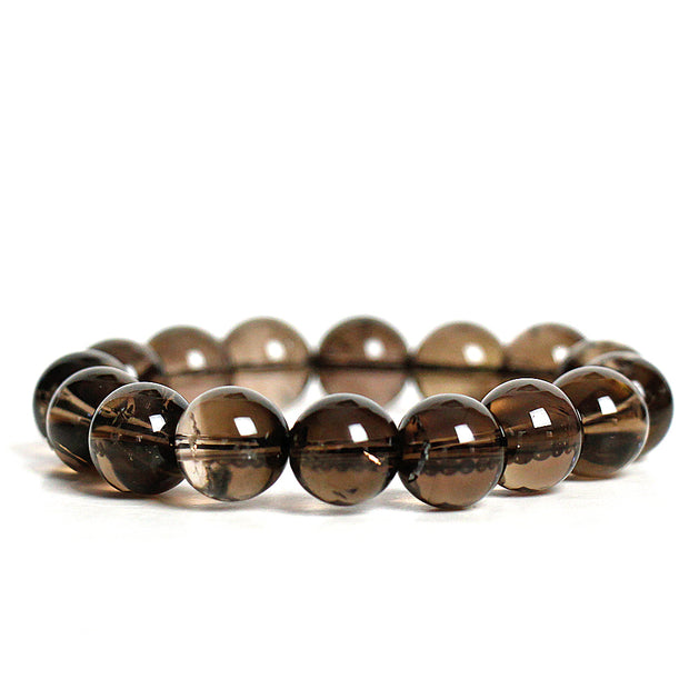 Smoky Quartz 10mm Power Bracelet