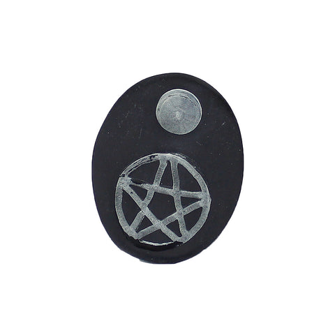 Pentacle Soapstone Cone Incense Burner Small