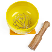 Solar Plexis (Yellow) Singing Bowl Gift Set Medium