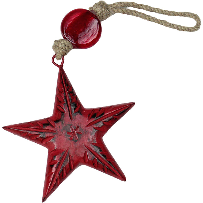 Star Indoor/Outdoor Mango Wood Ornament
