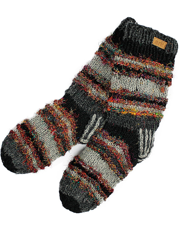 Black & Grey Swool Stripe Socks