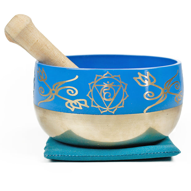 Throat Chakra (Turquoise) Singing Bowl Gift Set Medium