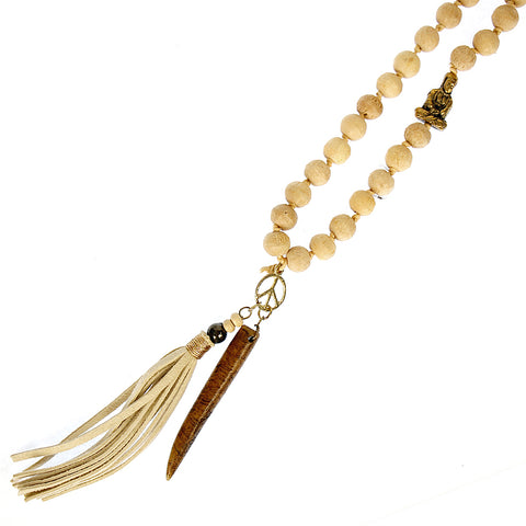 Tooth & Tassel Mala Necklace