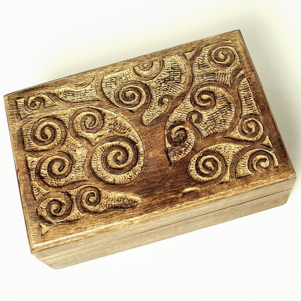 Tree of Life Mango Wood Rectangular Box – Hilltribe Ontario