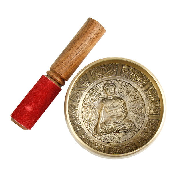 Single Buddha Script Medium Singing Bowl