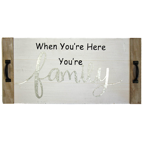 You Are Family Wood Plaque