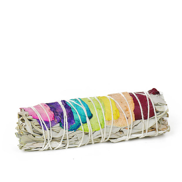 Chakra Smudge Stick With Rose Petals