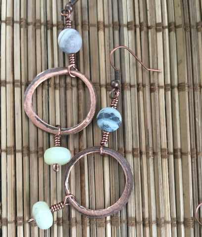 Rings of Copper Earrings II