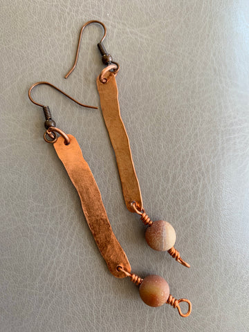 Copper & Amozonite Earrings II