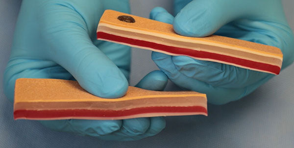 5-layer and 6-layer suture pads