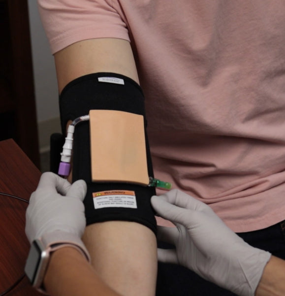 human vascular access sleeve for phlebotomy training and venipuncture