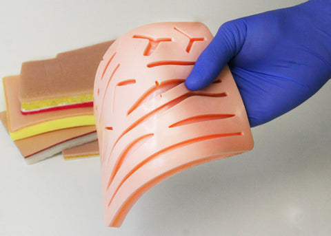 low quality suture pads will often tear from even normal amounts of pulling