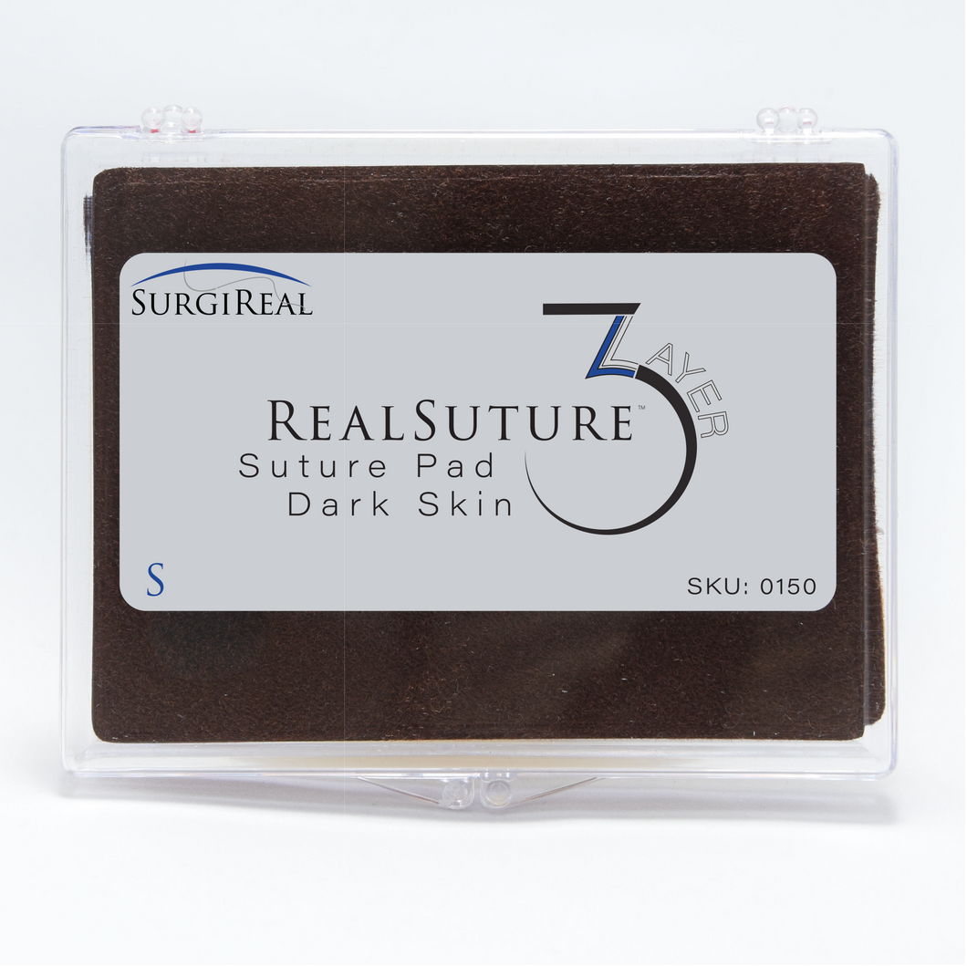 The 3-Layer Suture Pad from SurgiReal is designed to mimic the first three superficial layers of the abdominal wall; the Epidermis layer, Subcutaneous layer, and the first Fascia layer.