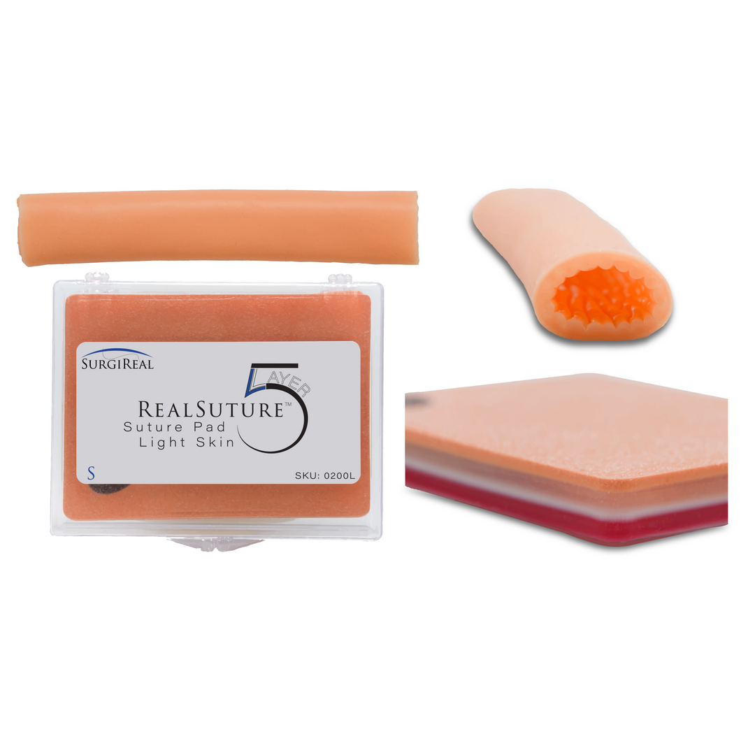 Product Bundle: Small RealSuture 5-Layer Suture Pad & 5