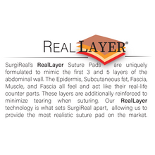 Load image into Gallery viewer, Large RealSuture 3-Layer Suture Pad