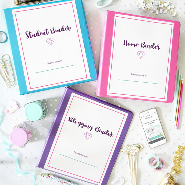 graphic regarding Home Organization Printables referred to as Magnificent Binder Printables Abby Organizes