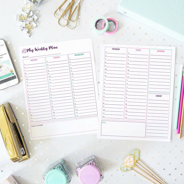 Organizing Printables Less than $3 Collection Abby Organizes