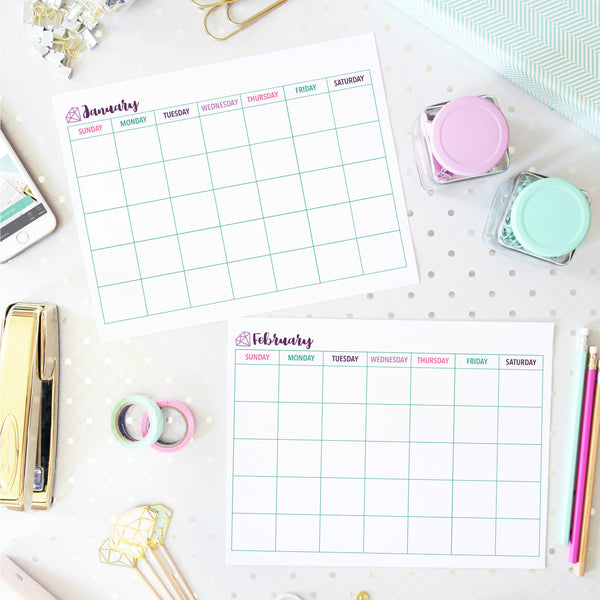 Organizing Printables Monthly Calendar Printables Collection Abby Organizes