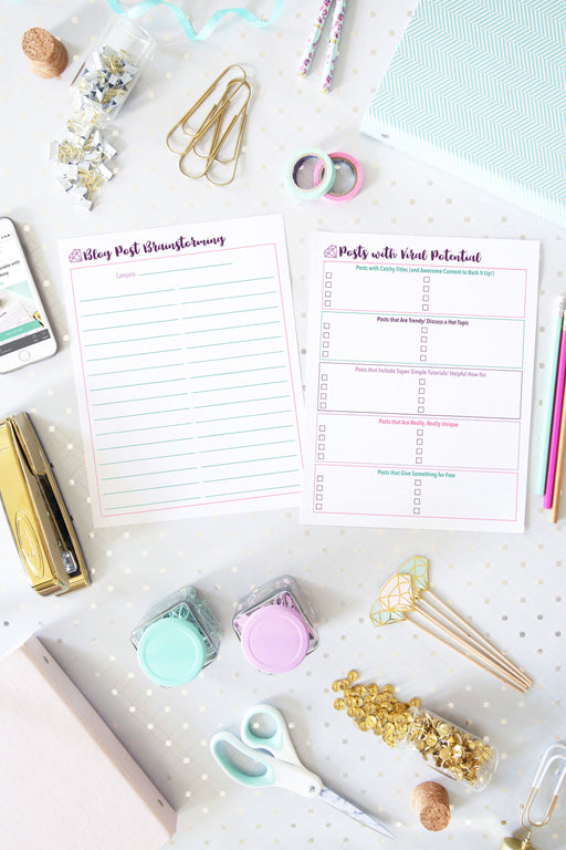 Blog Post Planning Printables, organizing printables, blogging binder, #printables #organizing