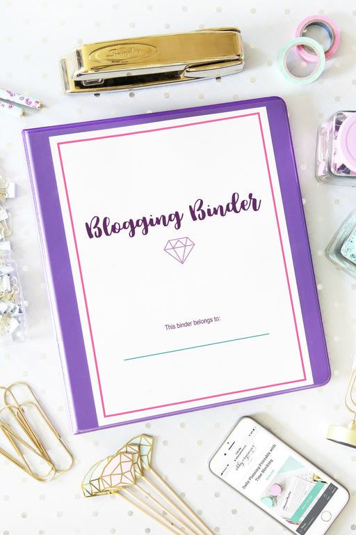 Deluxe Blogging Binder Printables
