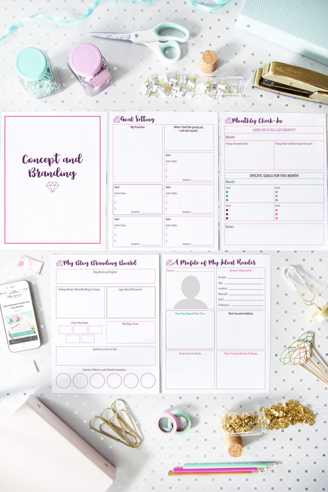 Deluxe Blogging Binder Printables, organizing printables, organized binder for bloggers, #printables #organizing