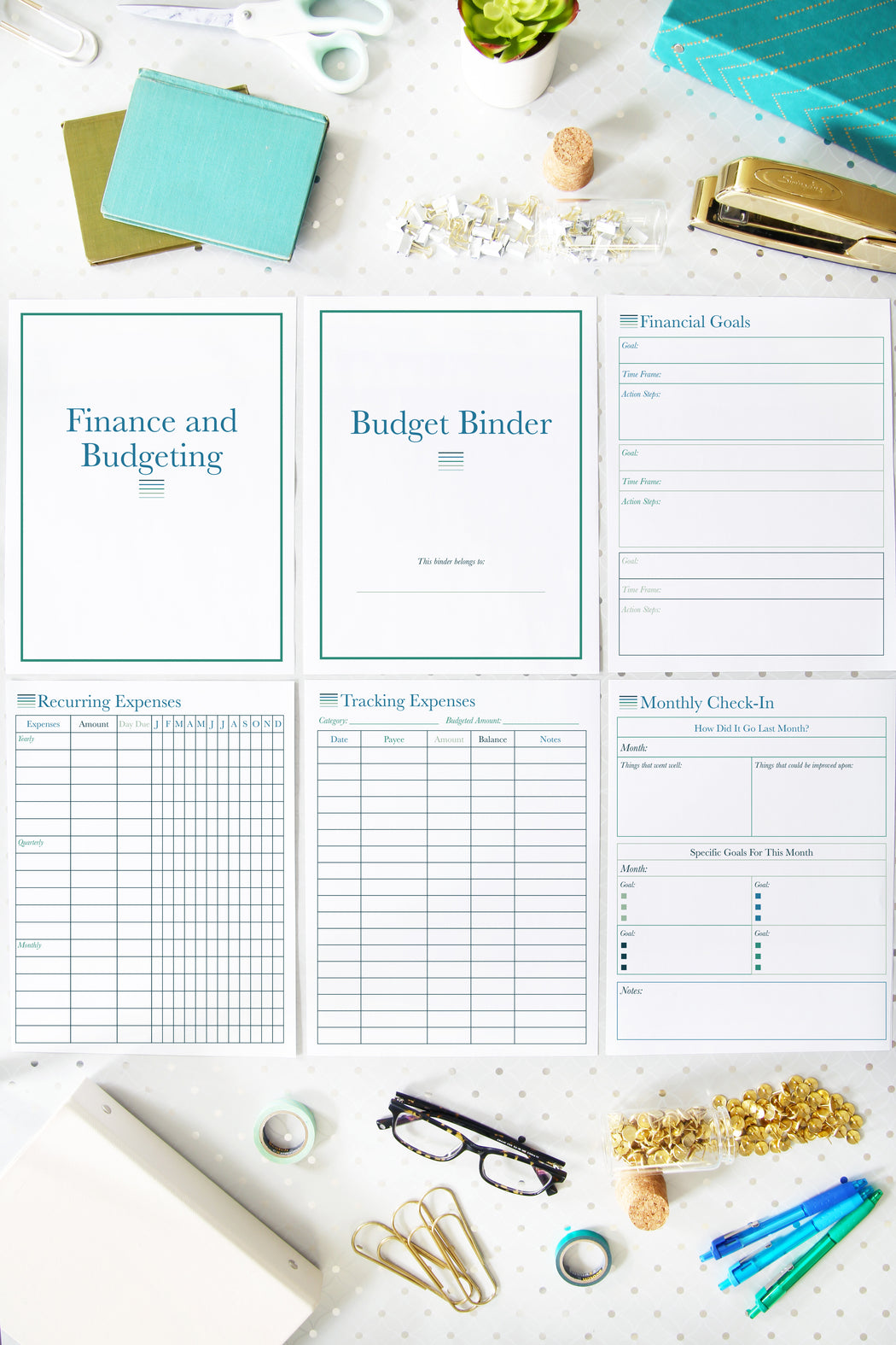 Deluxe Home Binder Printables, organizing printables, organized binder for the home, #printables #organizing