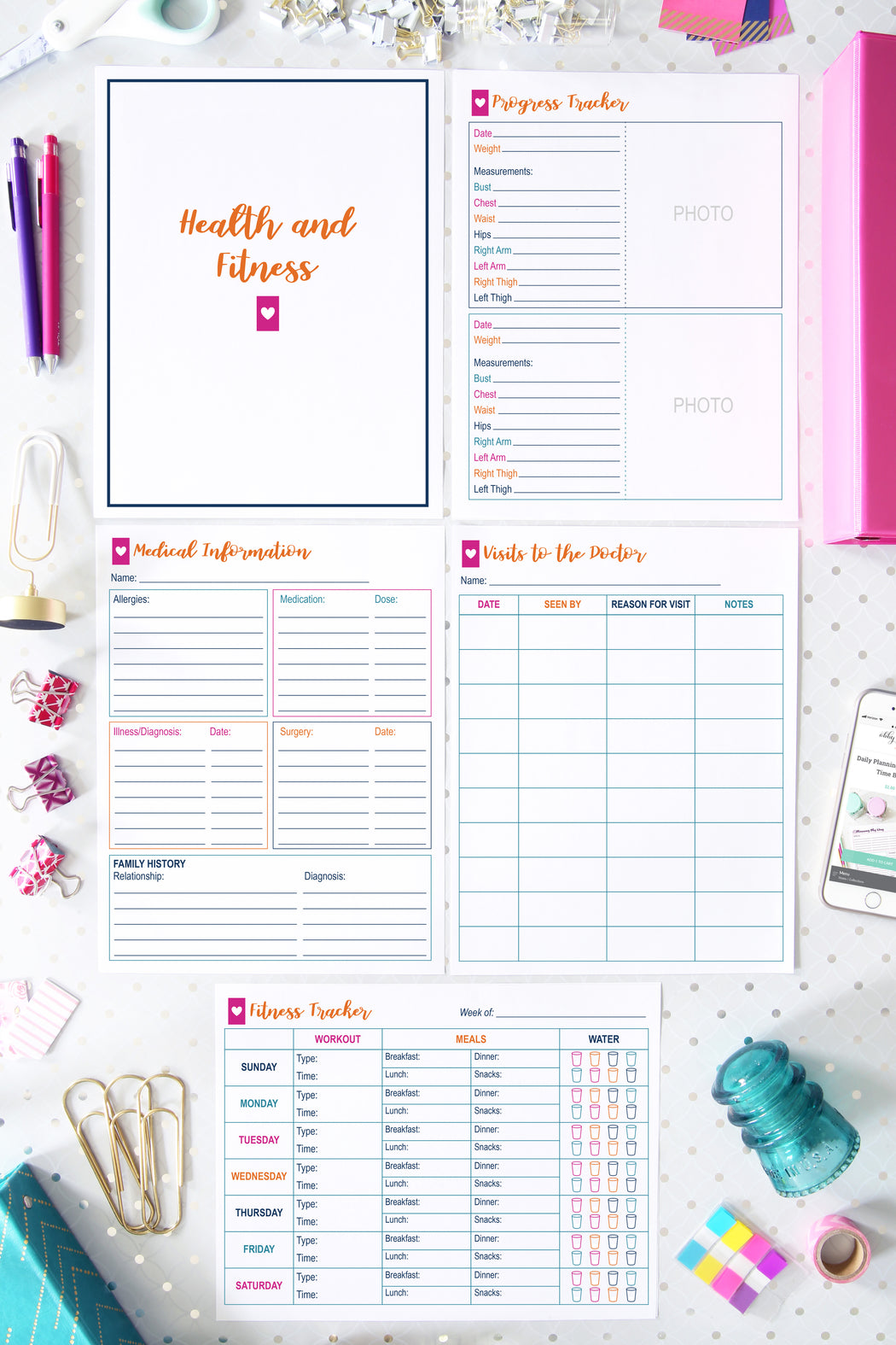 deluxe home binder printables organizing printables organized binder for the home printables