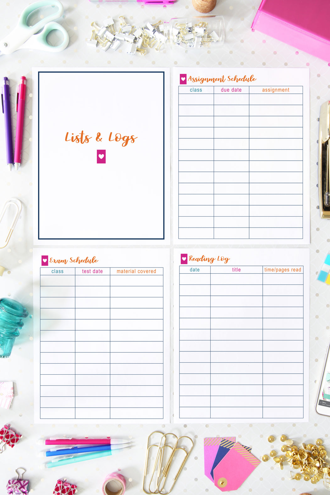 Deluxe Student Binder Printables, organizing printables, organized binder for students, #printables #organizing