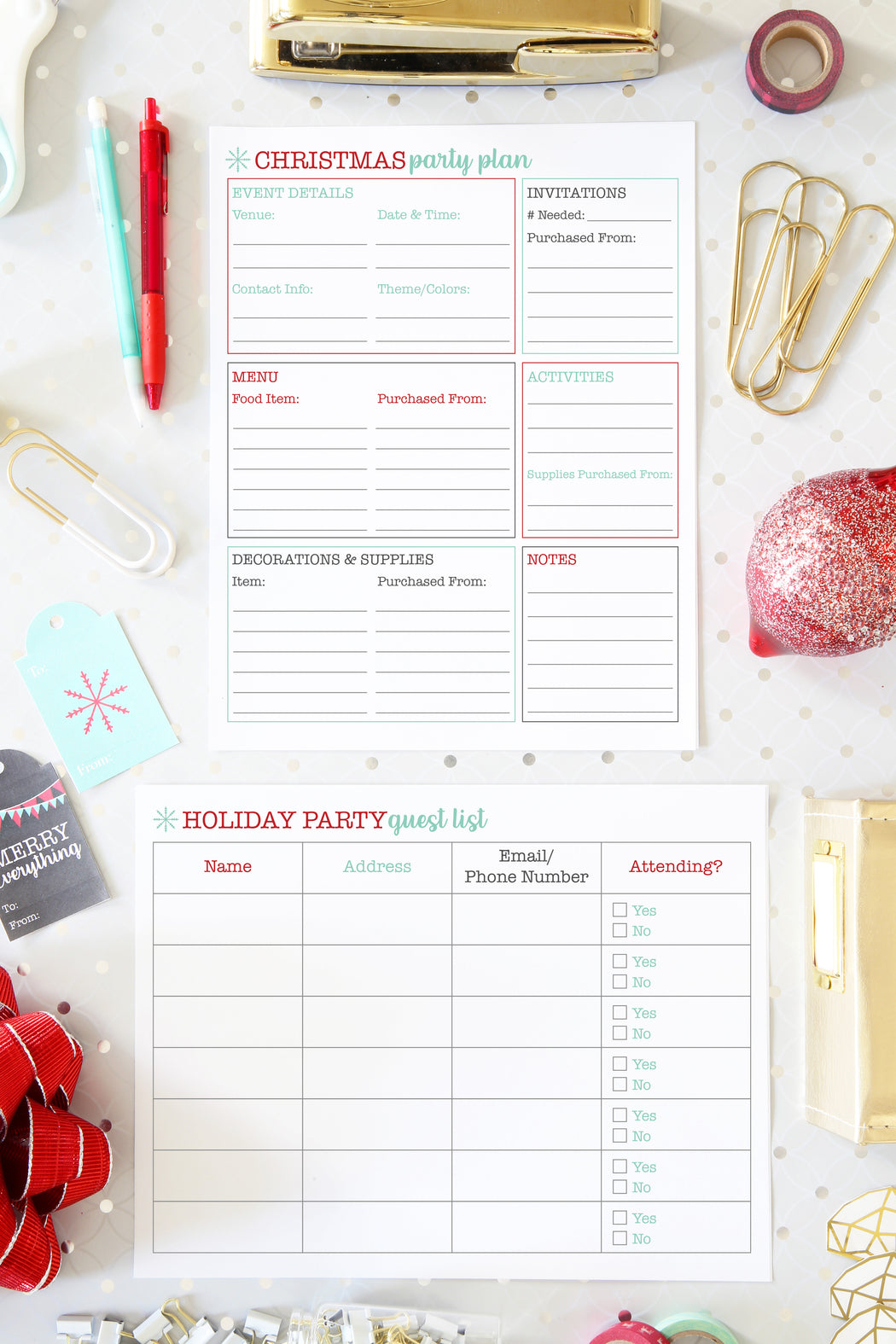 Deluxe Christmas Planner / Holiday Planner