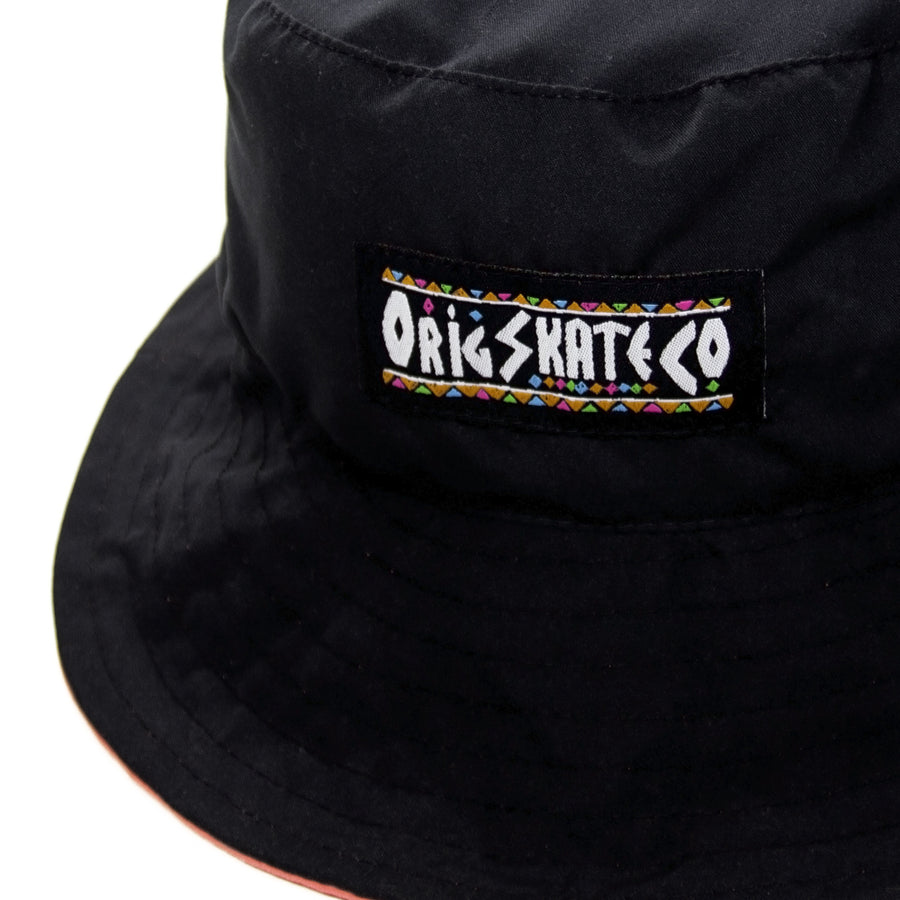 BUCKET HAT REVERSIBLE RIGHT THING BLACK/CORAL