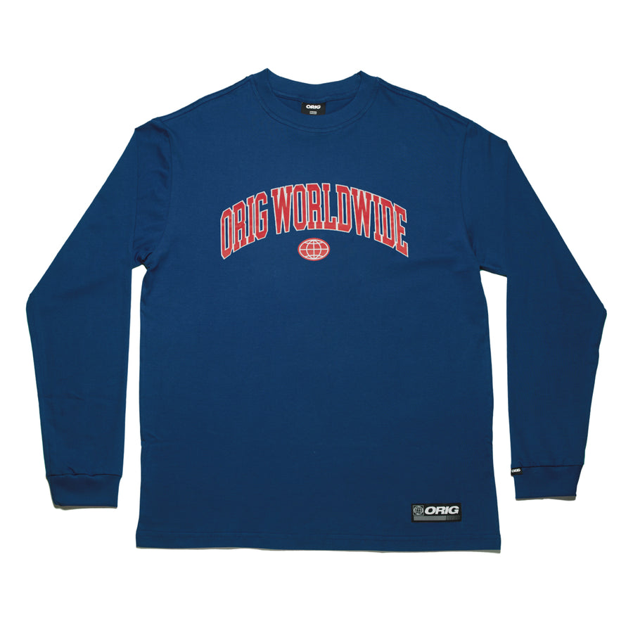 LONG SLEEVE WORLDWIDE NAVY
