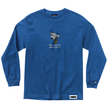 SHOOT IT LONGSLEEVE ROYAL BLUE