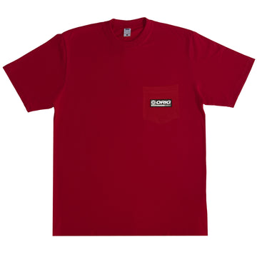 WRLD TEE POCKET DEEP RED