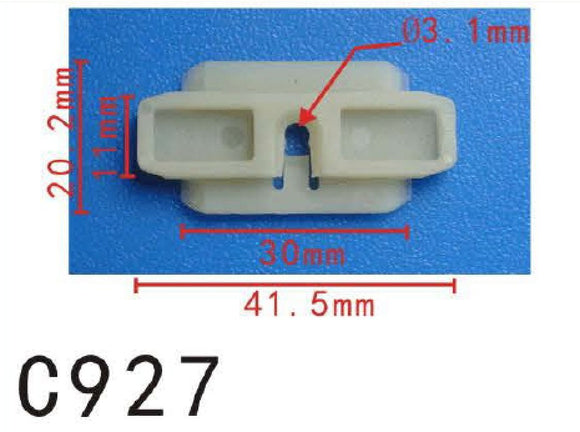 10 Fit VW Volkswagen 443-853-909-A Front Door Fender Quarter Panel Nylon Moulding Clip Audi