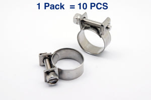 Stainless Mini Hose Clamp for Fuel Pipe Tube Plumbing, Multiple Size