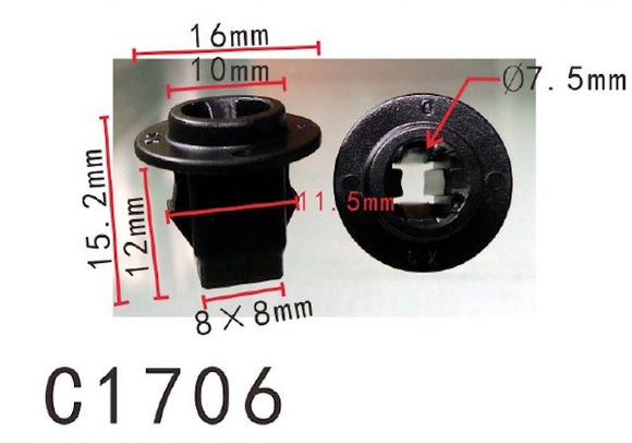 20PCS AUTOBAHN88 FENDER SCREW GROMMET Fit For NISSAN