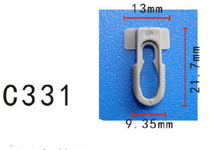 20x Nylon Body Side Moulding Trim Clip Retainer Fit GM General Motor General Motor 9838109