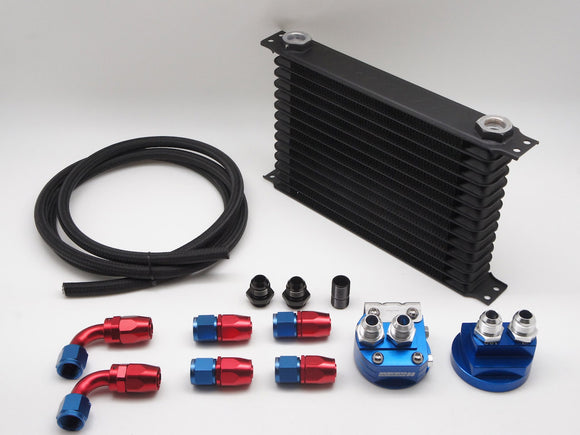 Universal Racing Relocation Oil Cooler Combo Set, Multiple Size