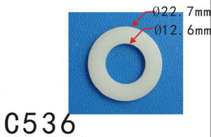 "20x Car Nylon Plastic Washer O Ring Seal 12mm 15/32"" M12 I.D. / 22mm 7/8"" O.D."