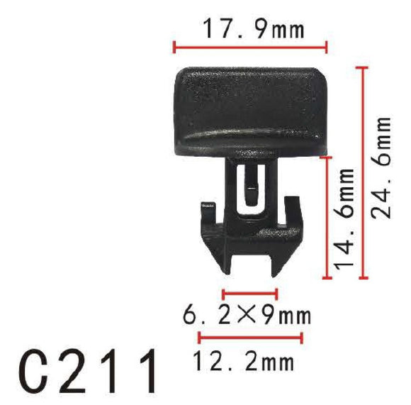 20x Nylon Fit GM General Motor Ford Instrument Panel Insulation Retainer Clip Fastener Rivet