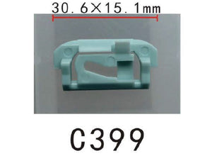 10x Nylon Fit GM General Motor Windshield & Rear Window Reveal Moulding Clip Retainer Fastener